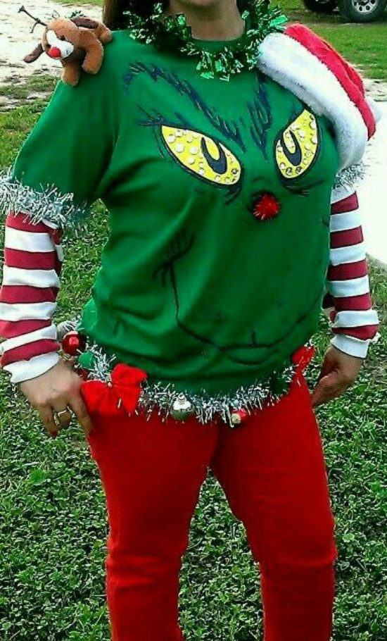 The Grinch Christmas Sweater.Diy Ugly Christmas Sweater Ideas Christmas Celebration