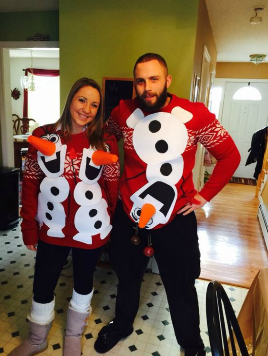 forget the usual snowman we love olaf the hilarious and witty love guru needless to say youll probably be the star of the ugly christmas party at