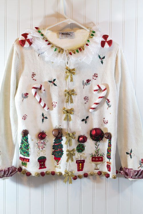 funky ugly christmas sweater
