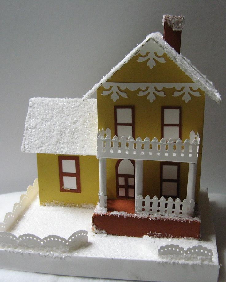 Christmas House.Diy Mini Cardboard Christmas House Christmas Celebration