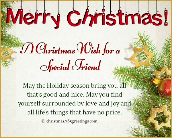 Christmas Wishes for Friends - Christmas Celebration - All about Christmas