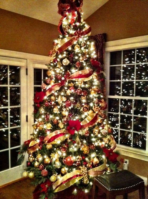 8 + BEST CHRISTMAS TREE DECORATION IDEAS WITH RED AND GOLD