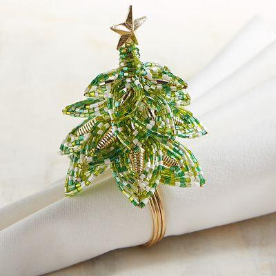 Christmas Tree Napkin Rings.Christmas Napkin Rings For A Festive Tablescape Christmas