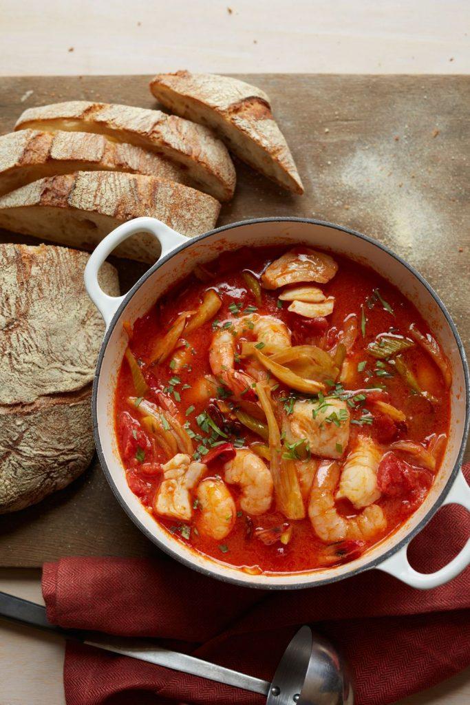 Seafood, Chorizo and Vegetable Stew