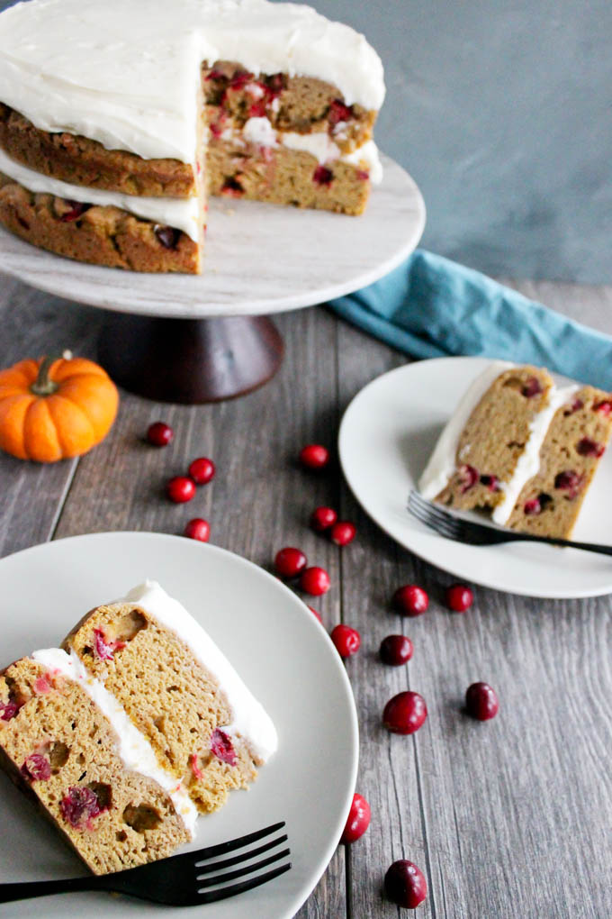 CRANBERRY PUMPKIN CAKE: