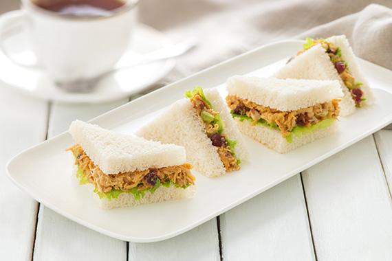 CURRIED CHICKEN TEA SANDWICHES: