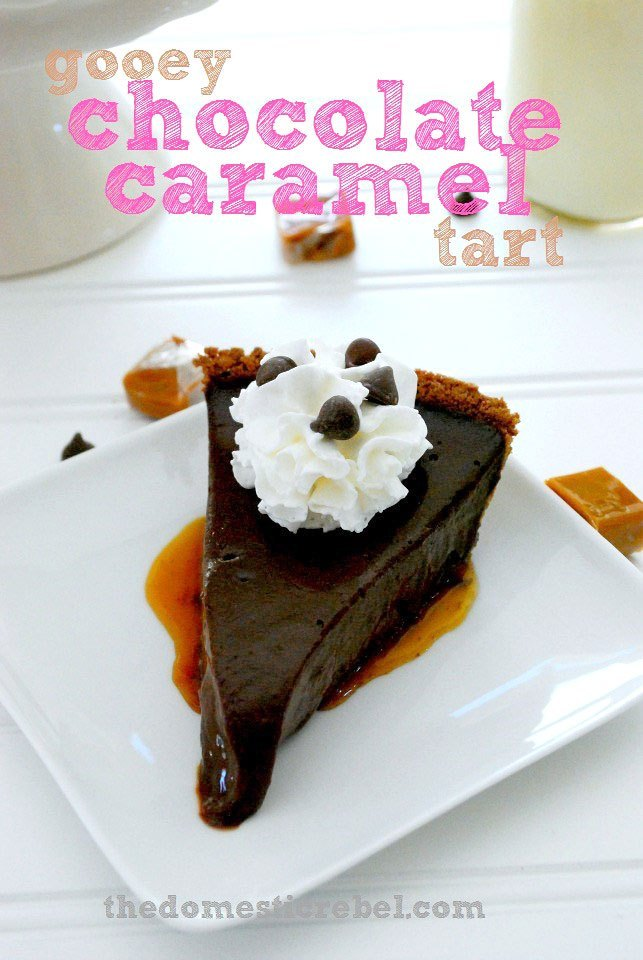 GOOEY CHOCOLATE CARAMEL TART: