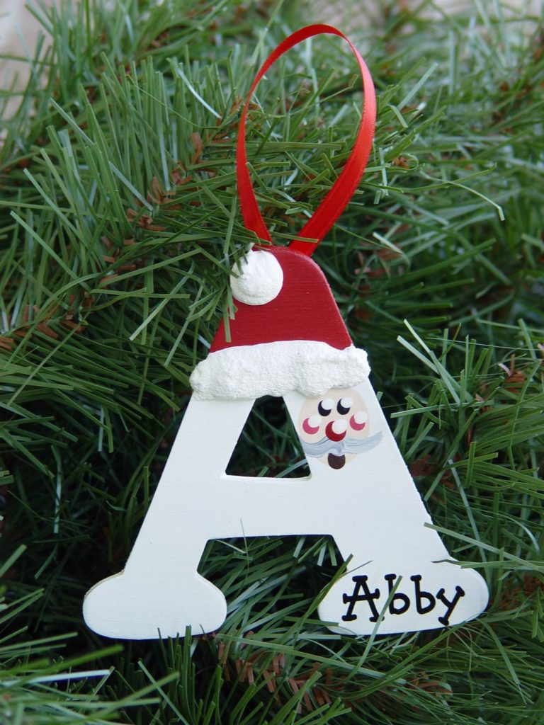 christmas letter ornament