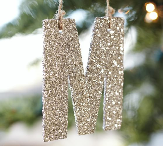 Letter Christmas Ornaments