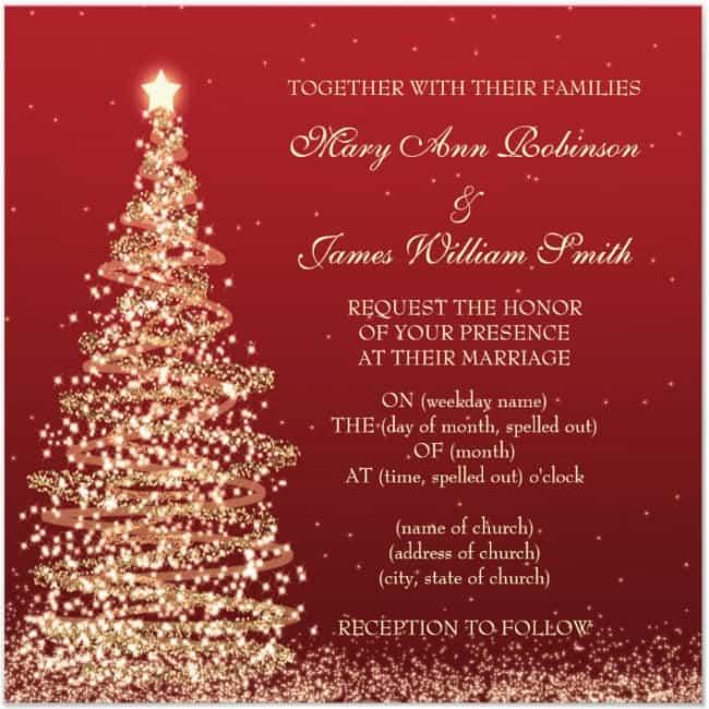 30 DIY CHRISTMAS WEDDING INVITATION IDEAS - Christmas