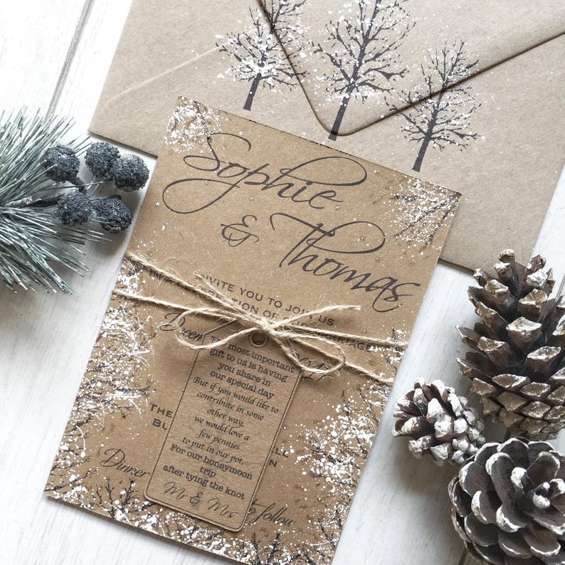 30 Diy Christmas Wedding Invitation Ideas Christmas